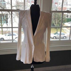 White sequined blazer